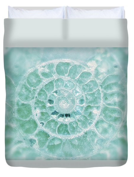 Aquamarine Seashell Fine Art Photograph Duvet Cover