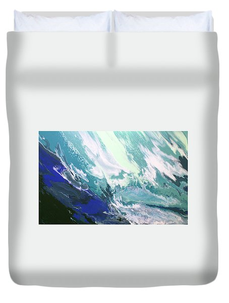 Duvet Cover featuring the painting Aquaria by William Love