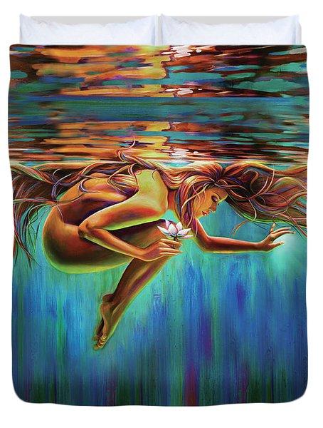 Aquarian Rebirth II Divine Feminine Consciousness Awakening Duvet Cover