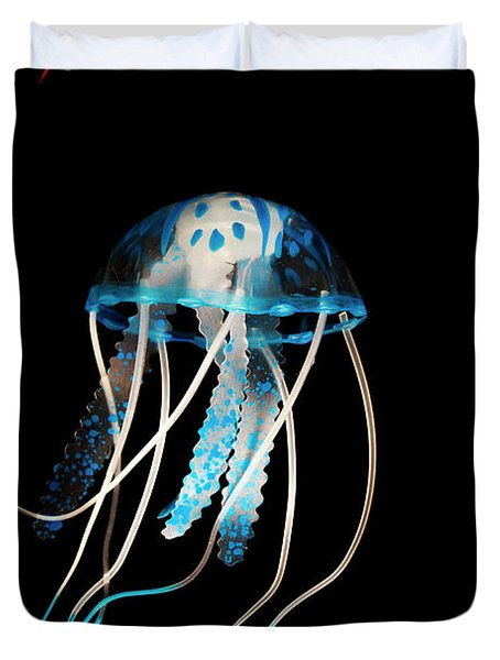 Aquarium Blue Duvet Cover