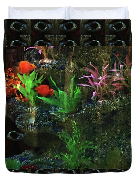 Duvet Cover featuring the photograph Aquarium Kids Entertainment Posters Pod Gifts Pillows Tote Bags Towels Curtains Tshirts Greetingcard by Navin Joshi