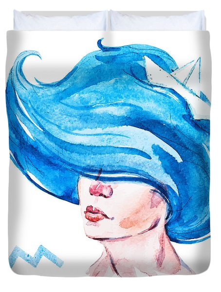 Aquarius Duvet Cover