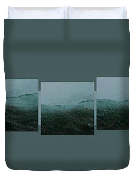 Aquascape Triptych - Duvet Cover