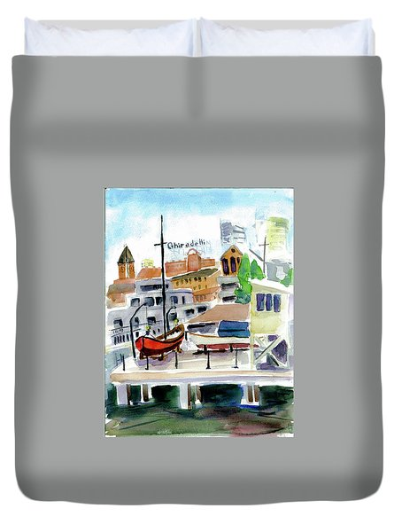 Aquatic Park1 Duvet Cover