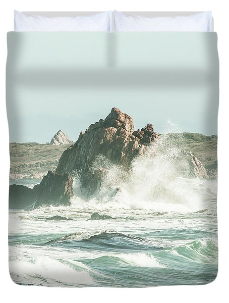 Aquatic Spray Duvet Cover