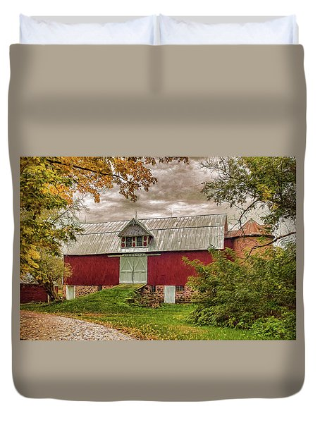A.r. Potts Barn Duvet Cover by Trey Foerster