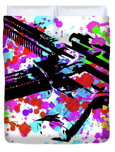 Ar15 Pop Art Duvet Cover