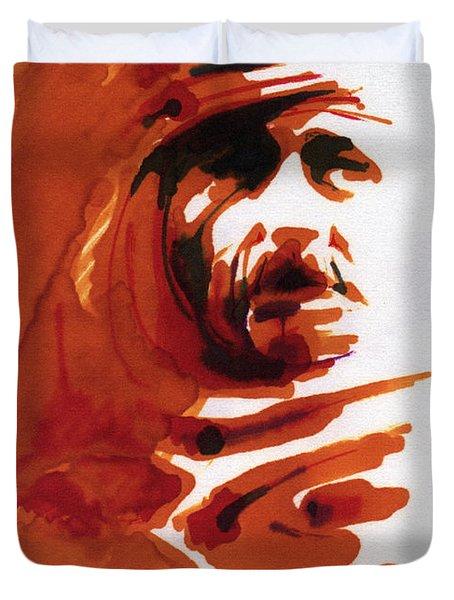 Arab Face Duvet Cover