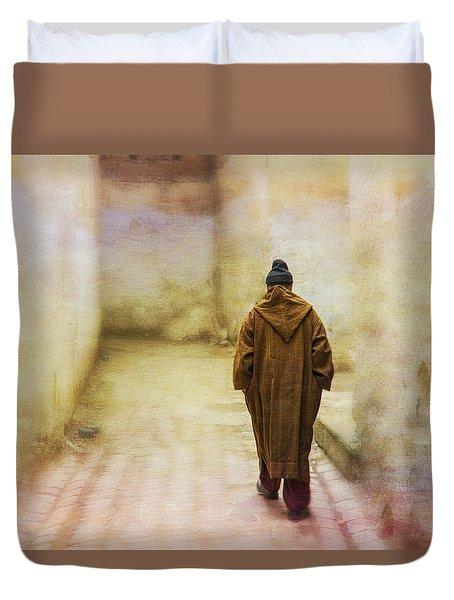 Arab Man Walking - Morocco 2 Duvet Cover