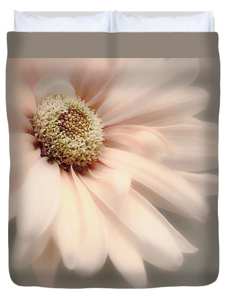 Duvet Cover featuring the photograph Arabesque In Peach Glow by Darlene Kwiatkowski