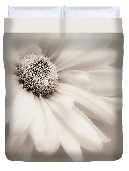 Duvet Cover featuring the photograph Arabesque In Soft Charcoal by Darlene Kwiatkowski