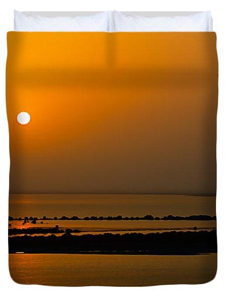 Arabian Gulf Sunset Duvet Cover