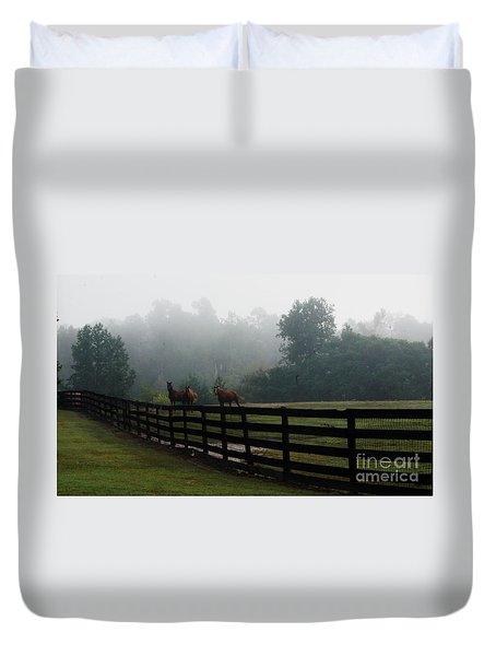 Arabian Horse Landscape Duvet Cover