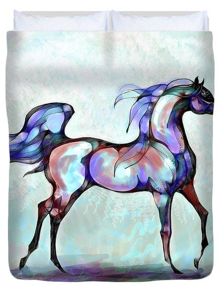Arabian Horse Overlook Duvet Cover