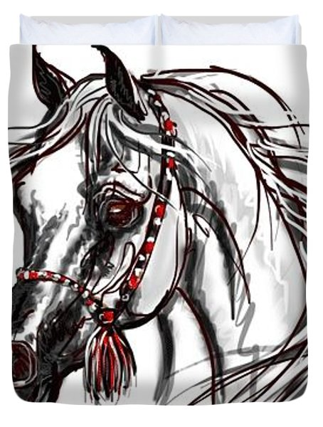 Arabian Horse Duvet Cover by Stacey Mayer