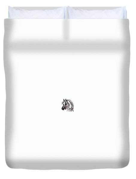 Duvet Cover featuring the digital art My Arabian Horse by Stacey Mayer