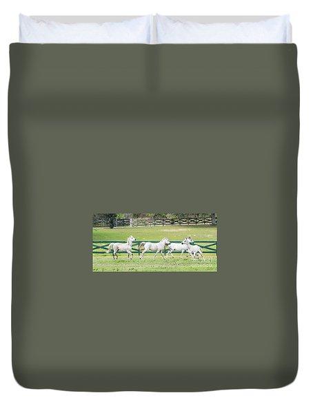 Arabian Horses Duvet Cover