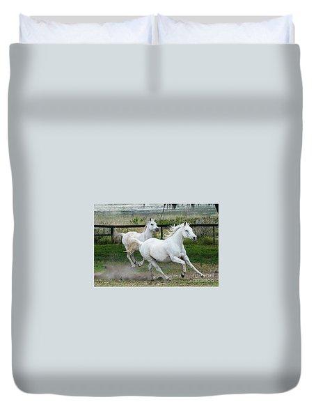 Arabian Horses Running Duvet Cover