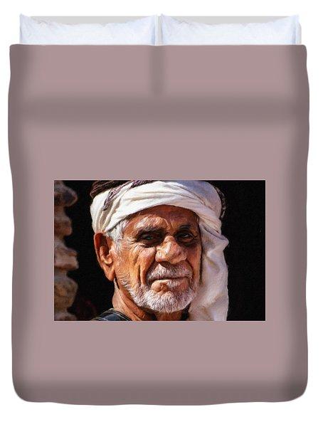Arabian Old Man Duvet Cover