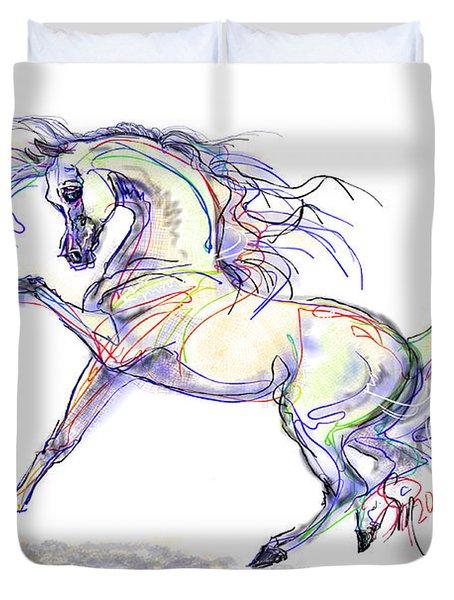 Arabian Stallion Talk Duvet Cover