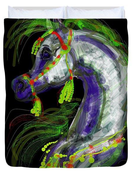 Arabian With Green Tassles Duvet Cover