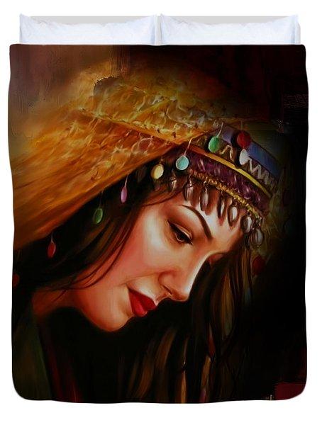 Arabian Woman 043b Duvet Cover