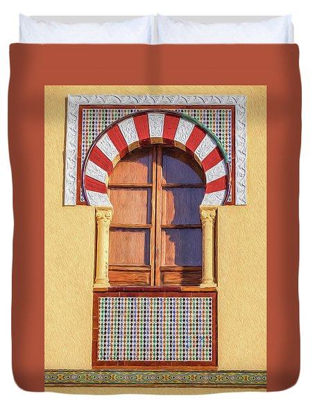 Arabic Window Of Spain Duvet Cover