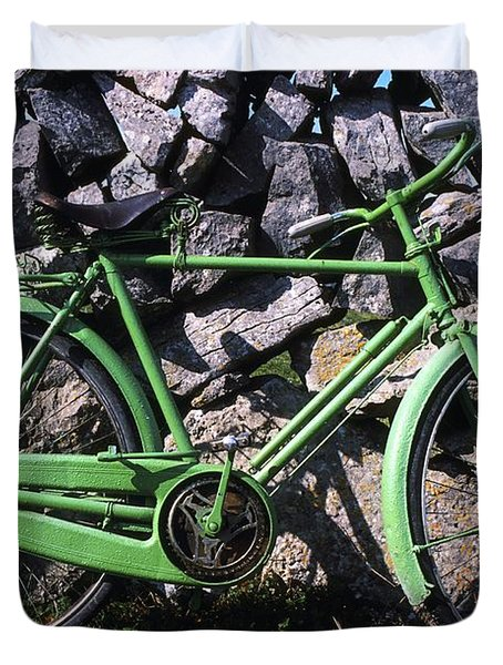 Aran Islands, Co Galway, Ireland Bicycle Duvet Cover