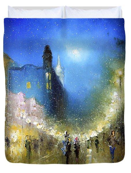 Arbat Night Lights Duvet Cover