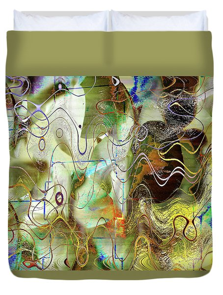 Arbitrary Color Opticality Duvet Cover by Don Gradner