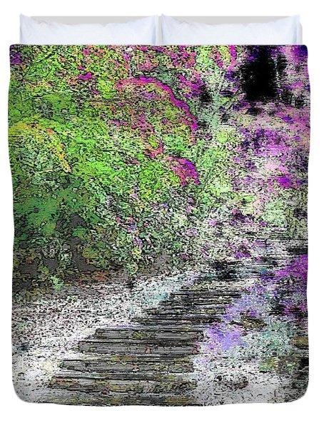 Arbor Pathway Duvet Cover by Tim Allen
