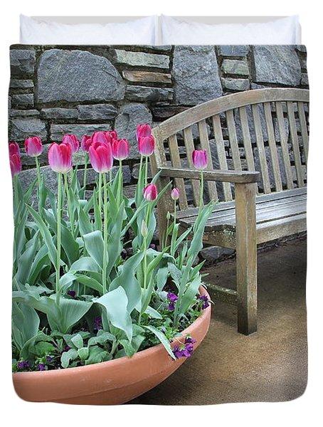 Arboretum Bench  Duvet Cover