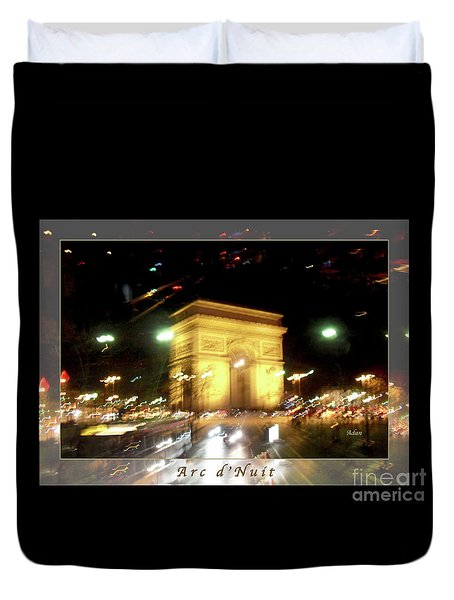 Arc De Triomphe By Bus Tour Greeting Card Poster V1 Duvet Cover by Felipe Adan Lerma