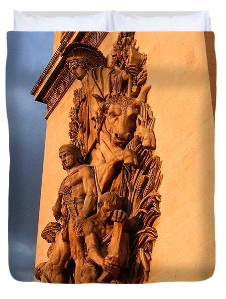 Arc De Triomphe Duvet Cover by Juergen Weiss