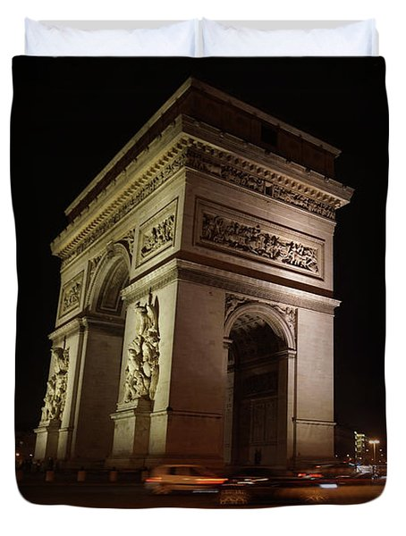 Arc Du Triomphe Paris Duvet Cover by Erik Tanghe