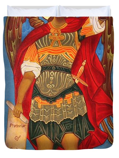 Arch Angel - St Michael Duvet Cover by Bill Cannon