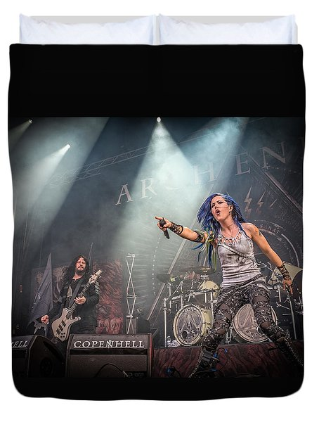 Duvet Cover featuring the photograph Arch Enemy by Stefan Nielsen