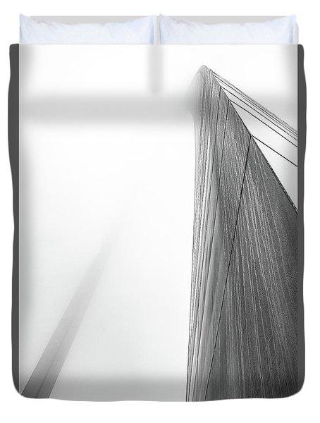 Arch In Fog Duvet Cover by Jae Mishra