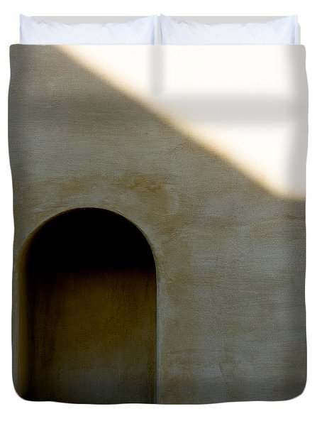 Arch In Shadow Duvet Cover by Dave Bowman