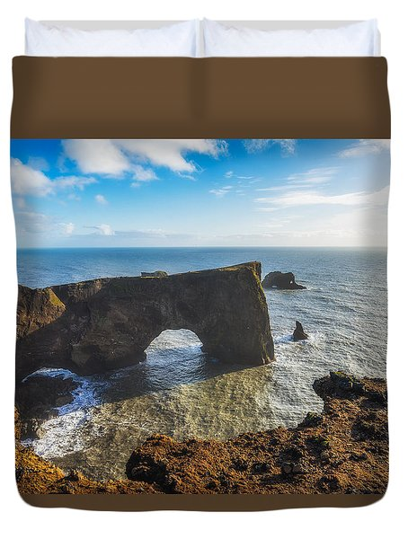 Duvet Cover featuring the photograph Arch by James Billings