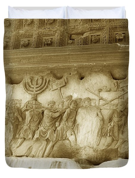 Arch Of Titus Duvet Cover by Photo Researchers, Inc.