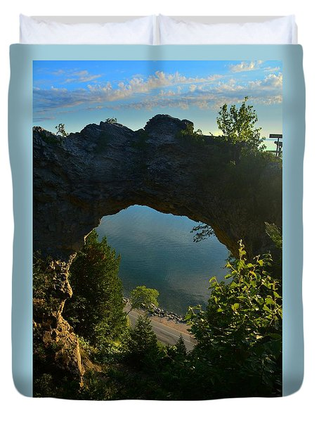 Arch Rock In The Morning Duvet Cover