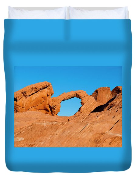 Arch Rock Duvet Cover by Rae Tucker