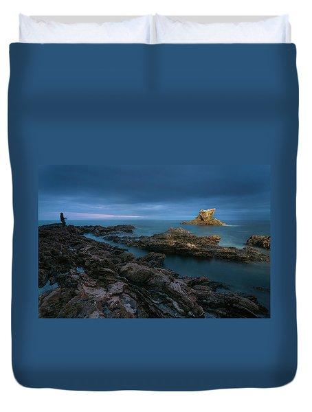 Arch Rock Duvet Cover by Ralph Vazquez