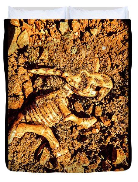Archaeology Dig Duvet Cover