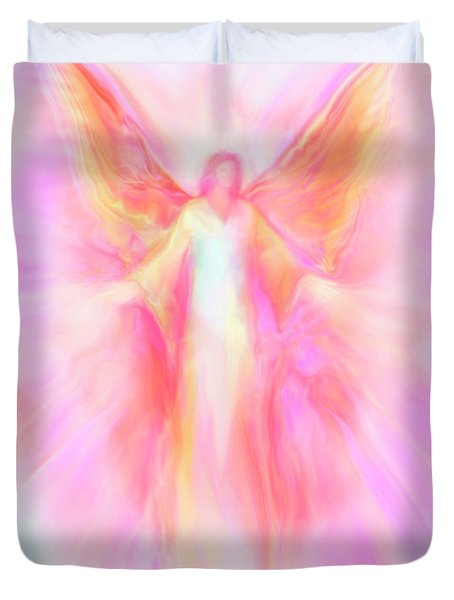 Archangel Metatron Reaching Out In Compassion Duvet Cover