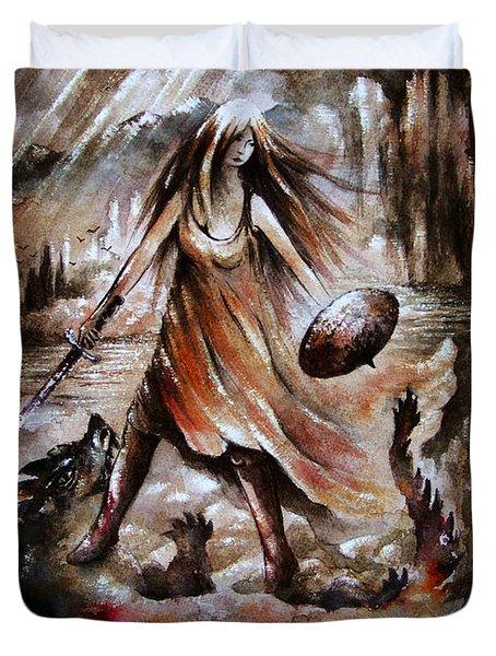 Archangel Duvet Cover by Rachel Christine Nowicki