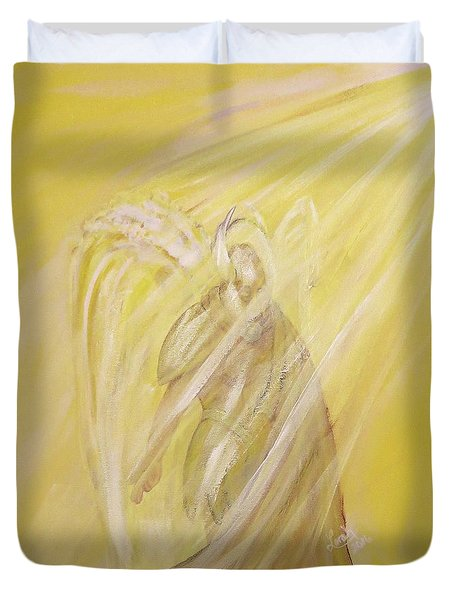 Archangel Uriel - Light Of God Duvet Cover