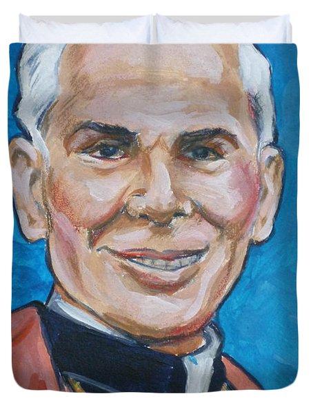 Archbishop Fulton J. Sheen Duvet Cover by Bryan Bustard