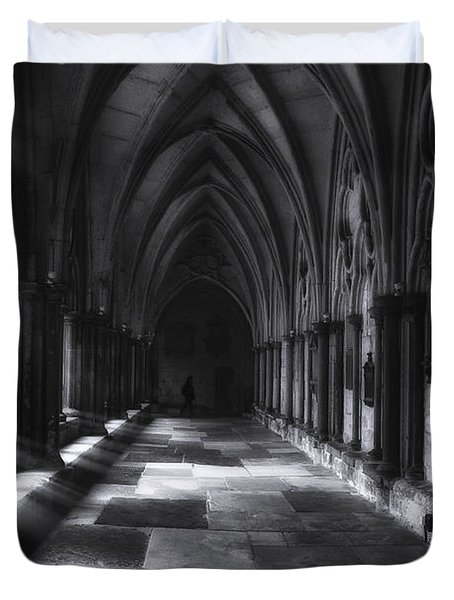 Duvet Cover featuring the photograph Arched Corridor by Andrew Soundarajan